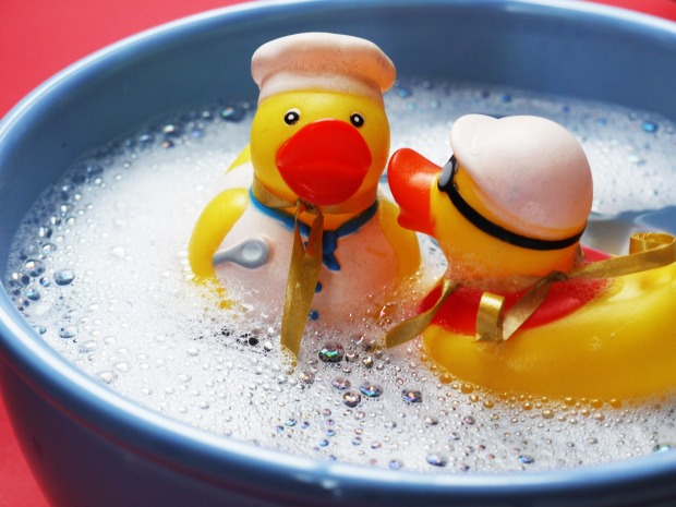 One rubber duck says to another rubber duck..